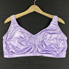 Comfort Choice Womens 44G Purple Satin Wire Free Unlined Full Coverage Bra