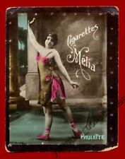 #31739 ALGIERS Algeria 1900s. Nice lady. Tobacco cigarette card MELIA