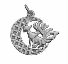 Sterling Silver 9 Tail nine tailed Fox Spirit Chinese Japan Goddess kumiho Charm