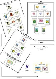 Print your own Japan Stamp Album, fully illustrated and annotated