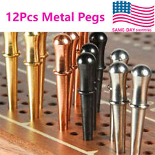 US Stock 12Pcs Metal Pegs Cribbage Game Board For 1/8 Hole 4Colors 25MM Long