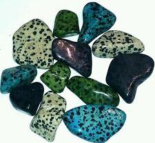 500 Cts Dalmation Jasper collection green blue purple white 1/4lb