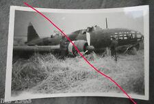 original Foto Russland   schwerer russischer Bomber notgelandet