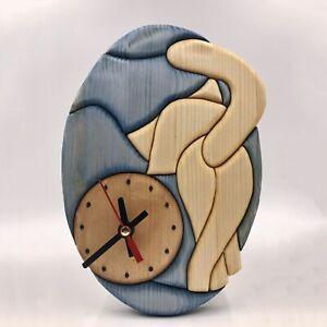 Clock  with cat