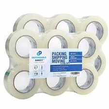 Packstrong Industrial Grade Clear Packing Tape 12 Rolls Extra Long 110 Yard