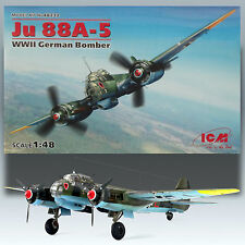 ICM 1/48 JUNKER JU 88A-5 WWII GERMAN TWIN ENGINE BOMBER KIT