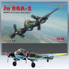 ICM 1/48 JUNKER JU 88A-5 WWII GERMAN TWIN ENGINE BOMBER