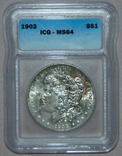 1903 Morgan Silver Dollar ~ ICG MS64, NICE RAINBOW TONING!