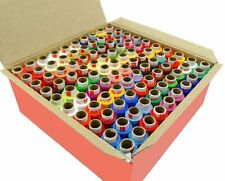100 Spool Coats Assorted Color Polyester Thread Spun Sewing Supply Quilting AU
