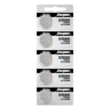 Energizer ECR2025 Lithium (LiMNO2) Coin Cell Battery 5 Pack Tear Strip