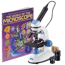 AMSCOPE-KIDS M50C-B-WM-E Dual Illumination Microscope (Blue) with Camera + Book