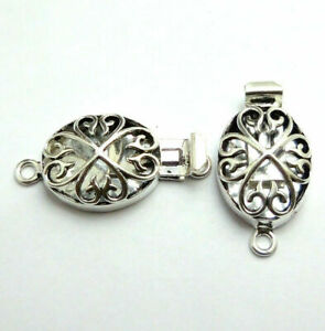 10 PCS 31X18X8MM BALI BOX CLASP 1 STRAND ANTIQUE STERLING SILVER PLATED 228 THD-