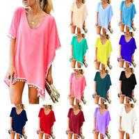 Women's Beachwear Swimwear Bikini Beach Wear Cover Up Tassel Ladies Summer Dress