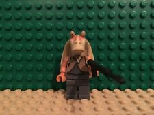 LEGO star wars Jar Jar Binks Minifigure 9499 Minifig sw301 W/ SPEARGUN Naboo