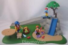 Playmobil Dollshouse/Playground/Park: Slide, skate ramp, roundabout & bench NEW