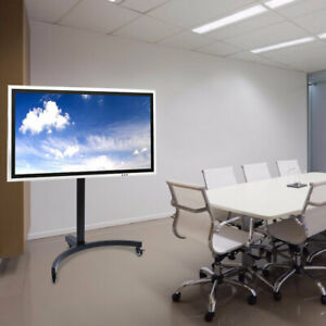 "Adjustable Mobile TV Stand Mount Universal Flat Screen Rolling TV Cart 32"" - 65"""