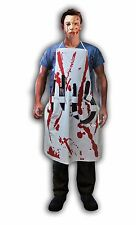 BLEEDING APRON WITH 4 WEAPONS TORTURE HORROR GORE SCARY BLOODY FANCY DRESS