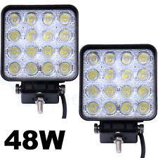 2x Faro 48W faretto quadrato 16 LED car auto jeep camion camper barca lavoro F1L