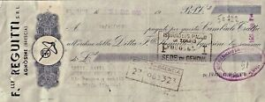 CAMBIALE DEL 1950 - FRATELLI REGUITTI AGNOSINE BRESCIA -