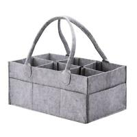 Felt Baby Diaper Storage Handbag Multi-slots Nappy Clothes Basket Organizer