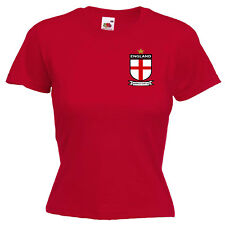 England World Cup 2018 Inspired Ladies Lady Fit T Shirt 13 Colours Size 6 - 16