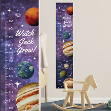 Planets Outer Space Stars Custom Measuring Height Growth Chart + 8 Wall Sticker