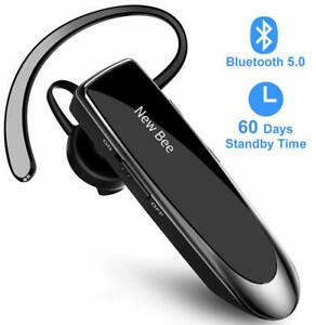 New Bee Bluetooth Headset Bluetooth 5.0 Earpiece Hands-free Headphone Mini NYPR@