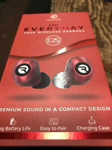 RAYCON E25 TRUE WIRELESS EARBUDS - RED  New Sealed