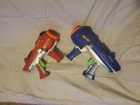 Lot of 2 Nerf Hyperfire Barrel Dart Tag Dart Gun Blasters and vest!!!!