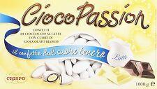 Cioco Passion Confetti di cioccolato al latte, con Cuore di Cioccolato Bianco 1k