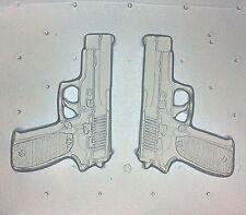 "Flexible Resin Or Chocolate Mold Medium Pistol Guns Set 2.5"" in Length"
