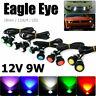 10 stk 18mm LED Eagle Eye Licht Auto Beleuchtung Lampen Tagfahrlicht 9W 12V DHL