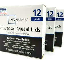 New ListingRegular Mouth Canning Jar Lid Discs 3 Boxes (36 Lids Total) Mainstays Usa Made