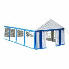 vidaXL Tienda de Fiesta con Ventanas de Jardín PVC Blanco y Azul 8x4 m Carpa