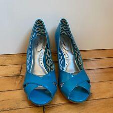 Dexflex Comfort Shoes Payless Catie Wedge Heels Light Blue SIZE 9.5 W #N