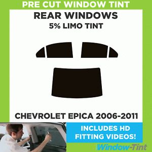 Pre Cut Window Tint - Chevrolet Epica 2006-2011 - 5% Limo Rear