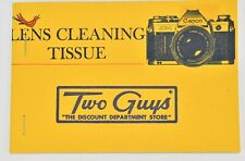 Canon AE-1 Lens Cleaning Tissue Two Guy Discount Department Store Advertising L1