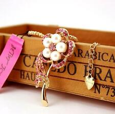 Pendant Betsey Johnson Fashion Pink Flowers Women Chain Jewelry Necklace