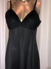 Vanity Fair  Black Nylon Full Slip Size 38 # 061434