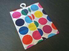 LAUNDRY CLOTHES PEG BAG WITH HANGING HOOKS - SPOTS - 100% COTTON - WASHABLE