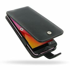 PDair Genuine Leather Flip Type Case Cover for Asus Zenfone Selfie ZD551KL Black