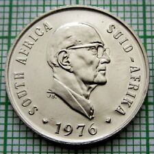 SOUTH AFRICA 1976 10 CENTS, ALOE PLANT, PRESIDENT Jacobus J. Fouché, PROOF