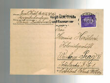 1942 Germany Buchenwald Concentration Camp Postcard Cover Emil Hrsel to Prague