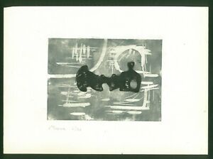 HENRY MOORE silkscreen - Hand signed in pencil - nude