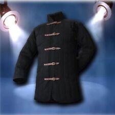 Medieval thick padded Black Gambeson coat Aketon Jacket Armor reenactment