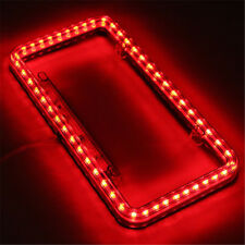 Universal 12V Red 54 LED Lighting Car Rear Number License Plate Cover Frame New