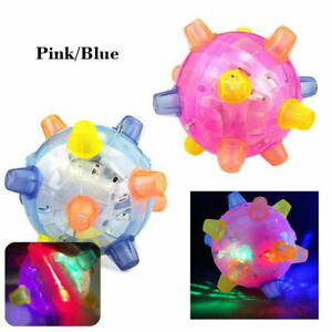 Electric Glow Jumping Activation Ball For Dog LED Light Flashing Bouncing Vibrat