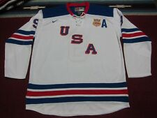 86686fe5a2a Nike NHL USA Olympic Team  9 Zach Parise Hockey Jersey Shirt White Blue 3XL  XXXL