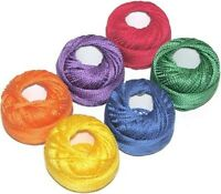 PRESENCIA PERLE (PEARL) COTTON SIZE 12 THREAD SAMPLER PACK, CRAYON 6 Colors NEW