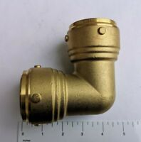 "1) 1-1/2"" X 1-1/2"" PUSH FIT ELBOW, 42 MM, LEAD FREE BRASS FOR COPPER, PEX, CPVC"